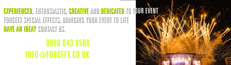 outdoor pyrotechnics and special effects